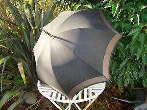 Inventif Vintage Victorian Fox & Co Paragon Trixie Soie Noire Parapluie Parasol Steampunk-afficher Le Titre D'origine