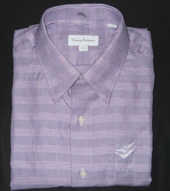 Tommy Bahama Shirt Long Sleeve Lavender Purple Button Down Dress 15 1/2 16 1/2