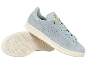 Damens adidas Originals Stan Smith Schuhes Trainers Blau Leder Leder Leder Suede ... 8d2fcf