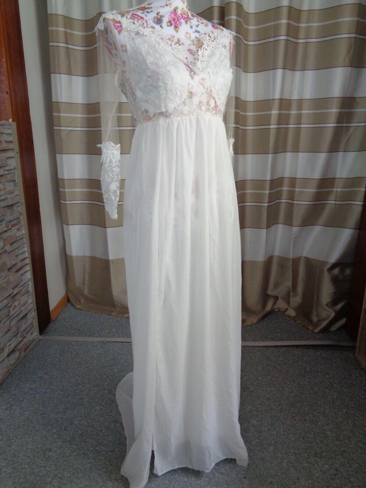 (67)Edles Damen Braut Standesamt Abend Kleid GR: 36