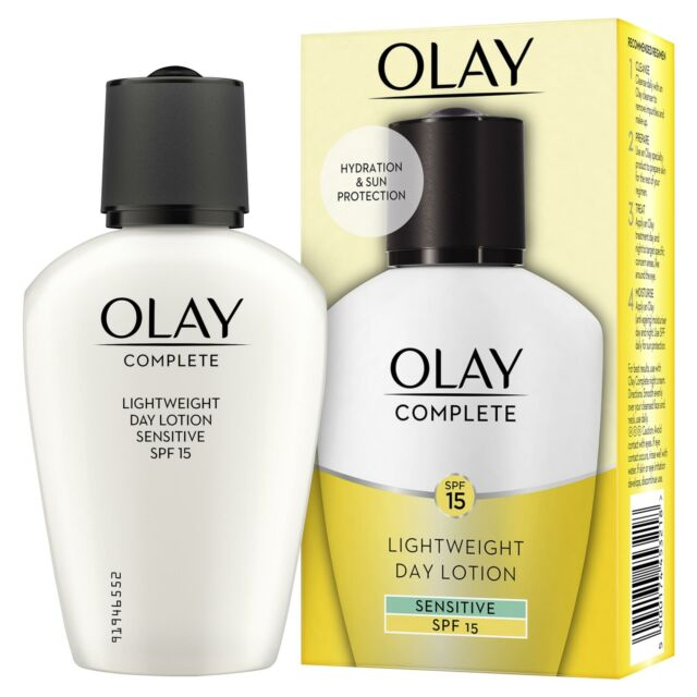 Olay 3-In-1 Lightweight Day Fluid Sensitive SPF15 Essentials Complete Care 100ml