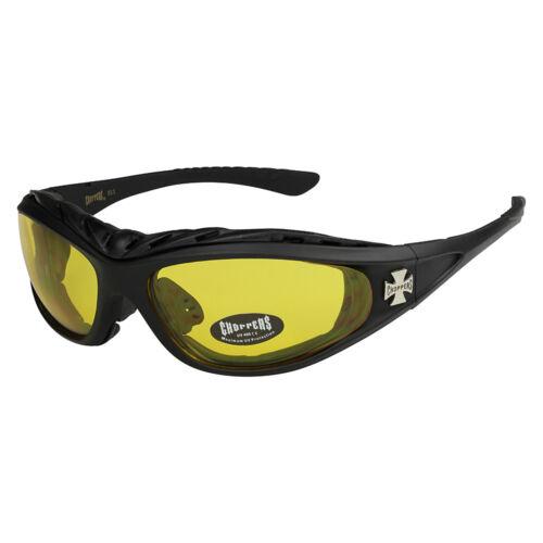 Choppers 203 Sonnenbrille Motorrad Brille Herren Damen Männer Frauen schwarz