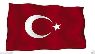 4 Adesivi Bandiera della Turchia Akacha