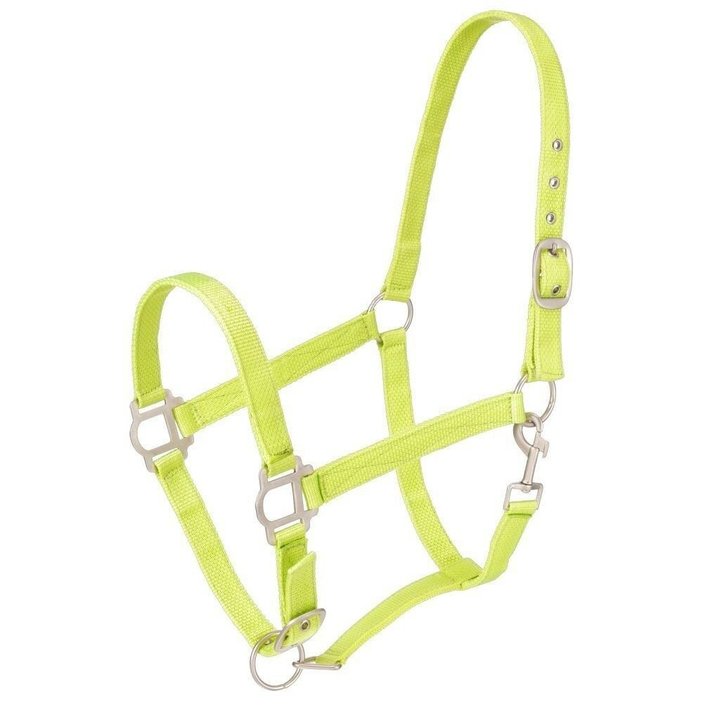 Tough-1 Double-Ply Nylon Halter with Satin Hardware and Adjustable Nose