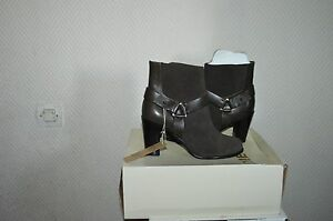 CHAUSSURE-BOTTES-BOTTINES-CUIR-DIESEL-TAILLE-40-US-9-BOOTS-BOTAS-STIVALI-NEUF