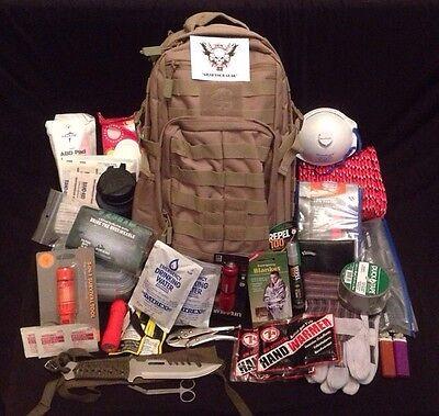TAC-32 Deluxe Bug Out Bag / Emergency Water Filter Tactical Backpack / Prepper