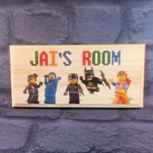 Image Is Loading Personalised Lego Movie Plaque Sign Gift Bedroom Door