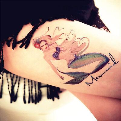 Women Mermaid And Fairy Tattoo Temporary Stickers Body Art 3d Tattoo Waterproof Ebay