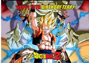 Dragon Ball Z Cake Toppers EDIBLE PERSONALISED BIRTHDAY ICING
