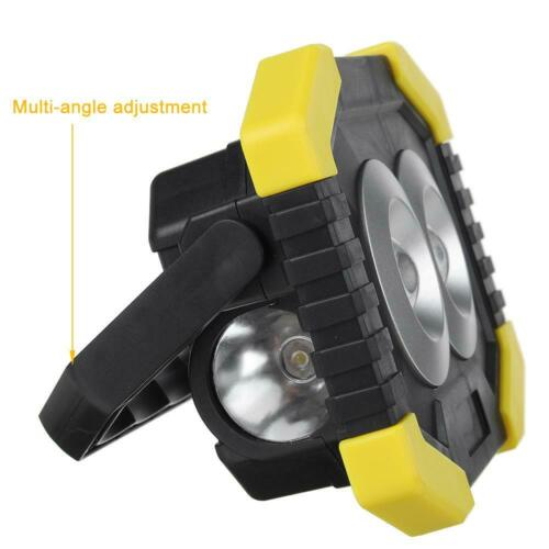 350W Solar LED Light USB Rechargeable Outdoor Camping Torch Flood Flashlamp Work