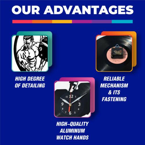Details about  /LED Clock Boss LED Light Vinyl Record Wall Clock LED Walll Clock 1455