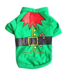 Elf-Dog-Tshirt-Christmas-Holiday-Costume-Shirt-Pet-Size-XS-S-M-L