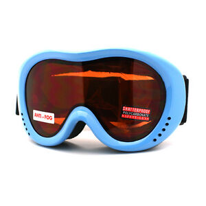 Small-Size-Adults-Junior-Ski-Snowboard-Goggles-Anti-Fog-Double-Lens