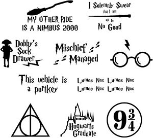 Lumos Nox Gold Harry Potter inspired 4 Pack of Light Switch Decals Stickers