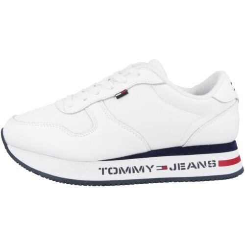 Tommy Hilfiger Tommy Jeans Flat Form Runner Sneaker Schuhe white EN0EN00778YBS