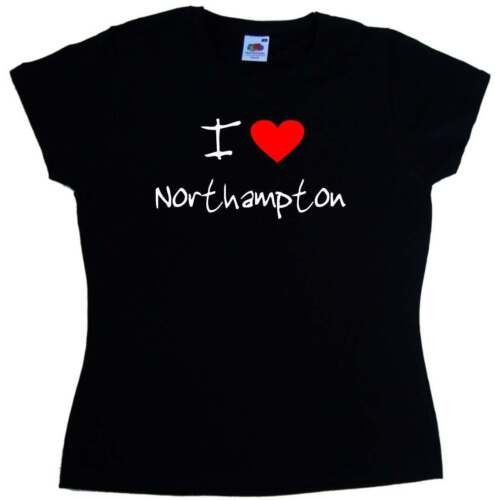 I Love Heart Northampton Ladies T-Shirt