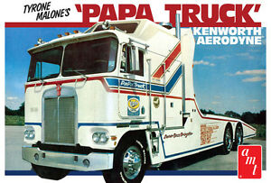 AMT-Tyrone-Malone-Kenworth-Transporter-Papa-Truck-1-25-model-car-kit-new-932