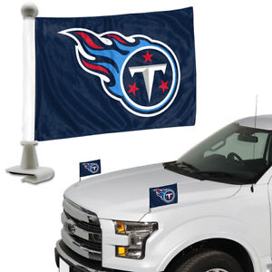 Tennessee-Titans-Set-of-2-Ambassador-Style-Car-Flags-Trunk-Hood