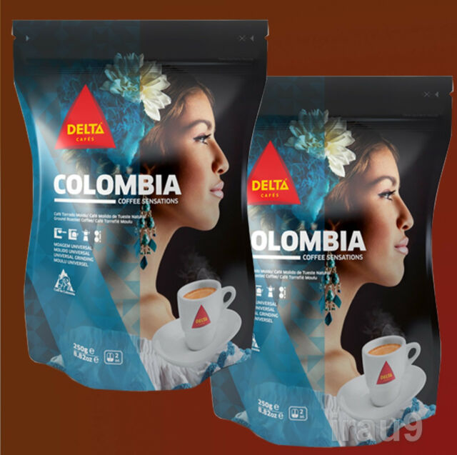 Delta Portuguese Colombia Ground Coffee Excelso 2x 250g - 500g 1.1lb, café, コーヒー