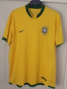 BRAZIL BRASIL HOME VINTAGE NIKE GENUINE FOOTBALL SHIRT - 2006/08 - XL ADULT - J6