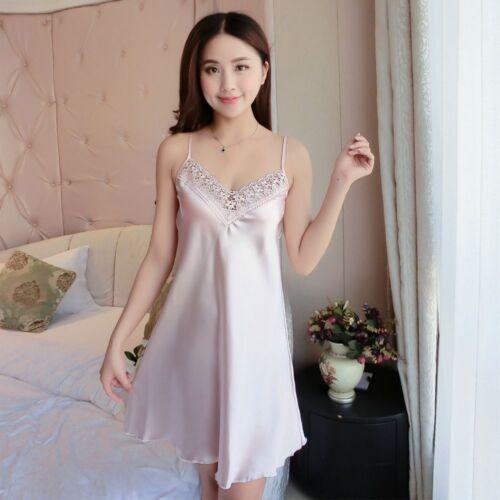 Sale Women Braces Lingerie Dress Silk Babydoll Nightdress Nightgown Sleepwear