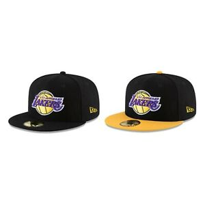 Los-Angeles-Lakers-LAL-NBA-Authentic-New-Era-59FIFTY-Fitted-Cap-5950-Black