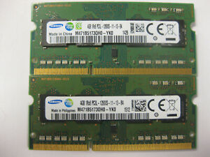 Samsung 8GB (2X4GB)  PC3L-12800S Low Voltage Laptop RAM Memory (4GB X 2)