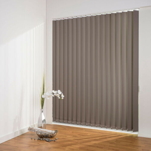 89 mm Vertikal Lamellen Verdunklung Lamellenvorhang Fenster Tuer Flächenvorhang