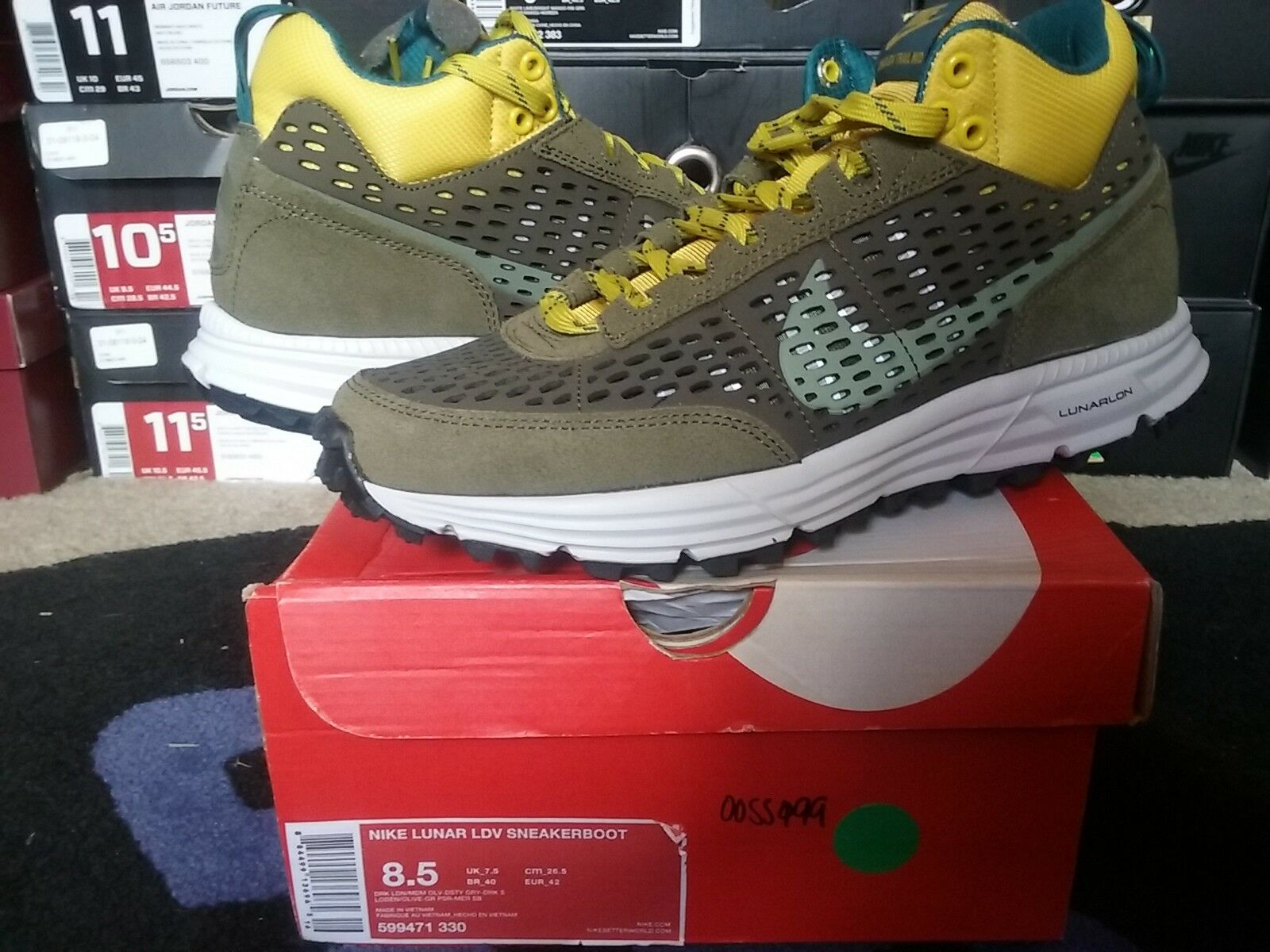 Nike Air Lunar LDV Sneakerboot ACG Dark Loden Medium Olive Grey Green 599471 330