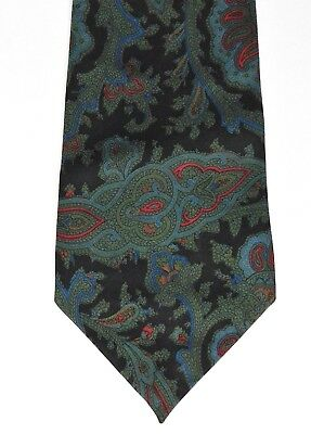 Pure silk Paisley pattern tie Traditional English mens wear vintage 1970s 1980s