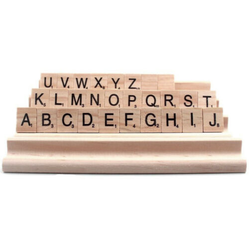 Scrabble Tile Racks Wood Wooden Lot Of 4 Trays Crafts Play Wedding Replacement
