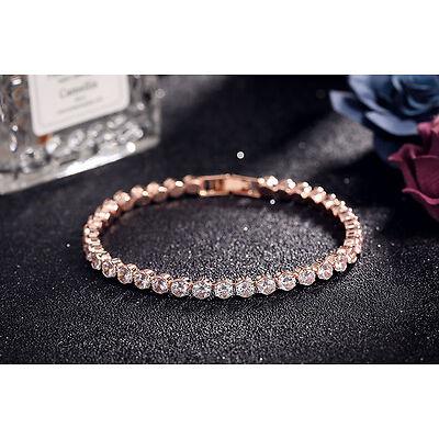 Rhinestone crystal clear gold thin 4mm fashion bracelet bangle 16cm length