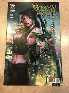 Grimm-Fairy-Tales-ROBYN-HOOD-Wanted-1-RARE-Stanley-Artgerm-Lau-Cover-2013-Signed
