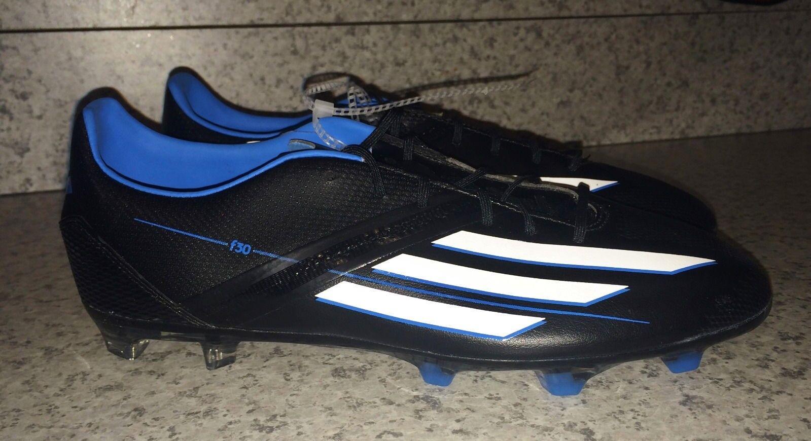 ADIDAS F30 TRX FG Black Solar bluee Wh Soccer Cleats Futball Boots NEW Mens Sz 8