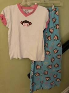 Sara s Prints girls monkey print 2 pc pajama pant set Sz 10  c465aecfb