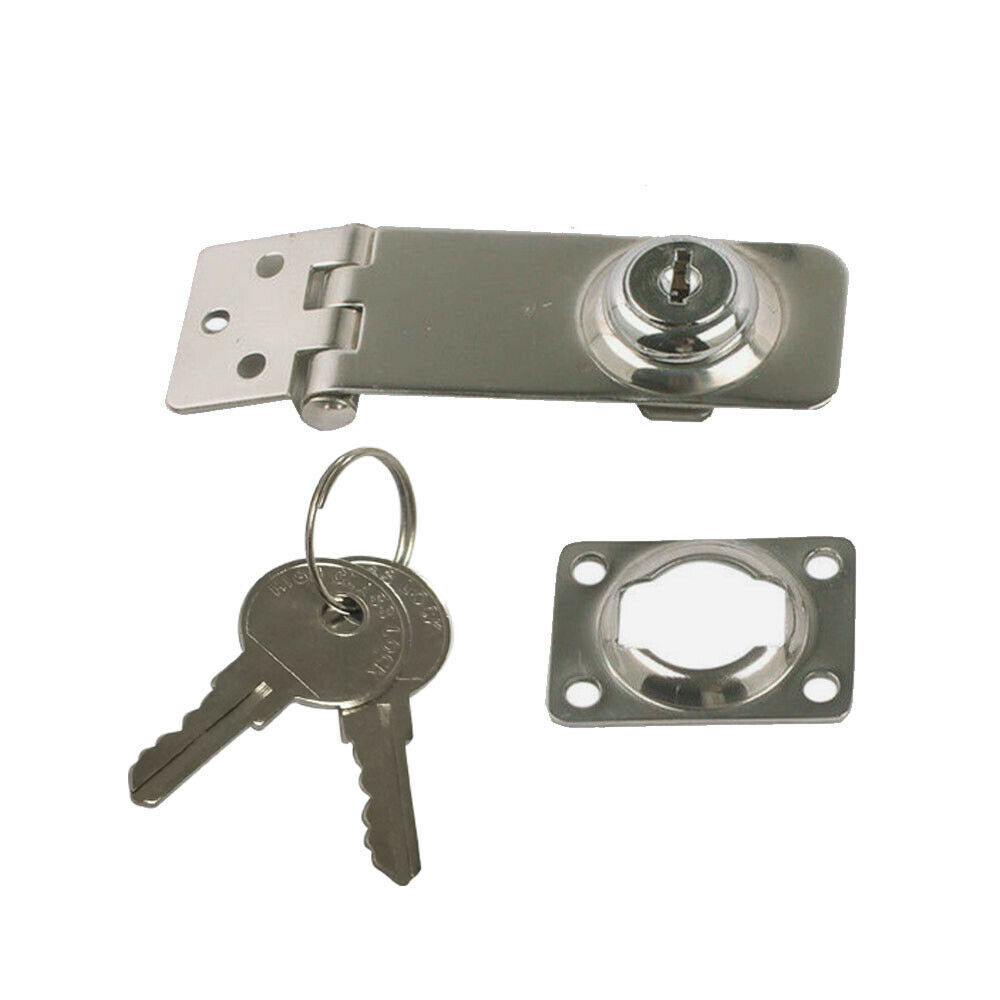 316 Stainless Steel Stamp Lock Hasp With Key 1-1//8/'/' x 3/""