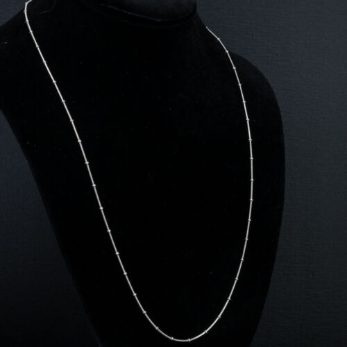 .925 Sterling Silver Snake Beaded Necklace / Chain