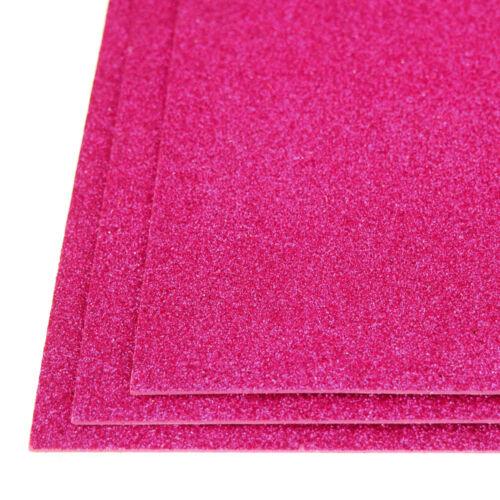 Autoadesivi glitter foglio di schiuma EVA fucsia 3 pezzi 8 POLLICI x 12 pollici