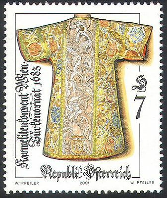 Austria 2001 Arts/Crafts/Clothes/Costume/Coats/Embroidery/Sewing 1v (n41222)