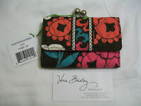 Vera Bradley Lola Small Kisslock Wallet Clutch Coin For Purse Tote Backpack