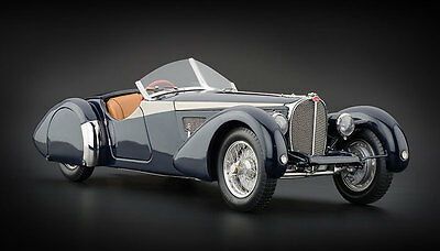 Box a little dented 1938 BUGATTI 57 SC CORSICA ROADSTER BLUE 1/18 BY CMC 106