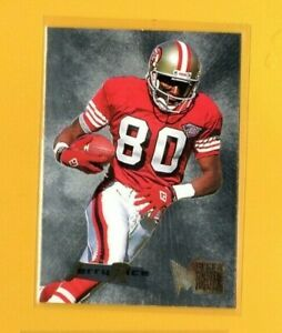 40831-JERRY-RICE-1995-FLEER-METAL-SILVER-FLASHER-SAN-FRANCISCO-49ers-CARD-34