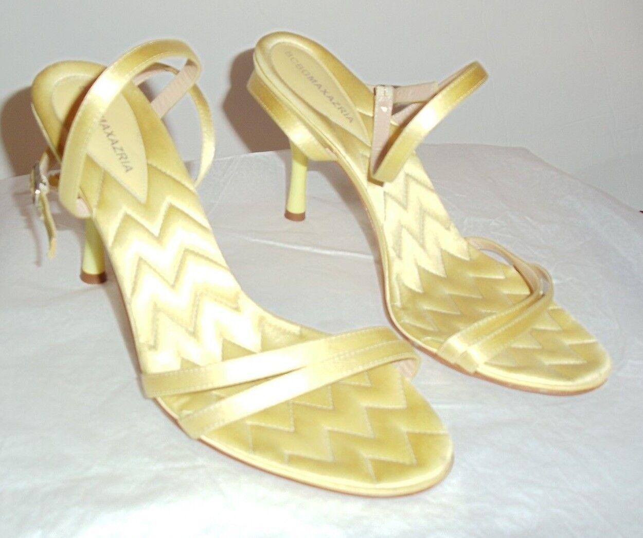 a90f0bab8754e Strappy sandals BCBG MAX AZRIA bumblebee yellow silk insoles 6 6 6 1 ...