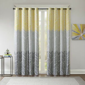 grey and yellow curtains BEAUTIFUL MODERN YELLOW GREY BLUE AQUA CHEVRON GEOMETRIC CURTAIN  grey and yellow curtains