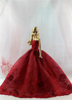 Fashion Princess Party Dress/wedding Clothes/gown For Barbie Doll H13u