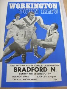 18-12-1977-Rugby-League-Programme-Workington-Town-v-Bradford-Northern-light-fo