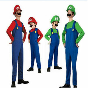 image is loading super mario luigi brothers famaily costumes kids adults