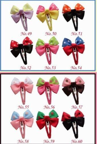 "Snap Clip 8 Styles 480 No. 300 Good Girl 2//2.75/"" New Boutique Hair Bow"