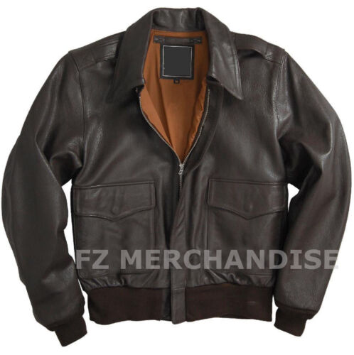 A Jacket 2 Flight Bomber Black Air Men's Force Leather OEwpxZq