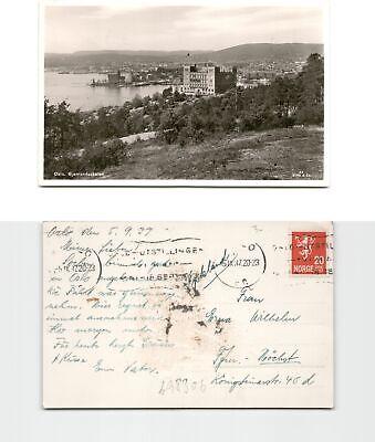 b98306 Fotoansichtskarte Oslo 1937 Nach Frankfurt Hoechst Anschriftsei So Effektiv Wie Eine Fee